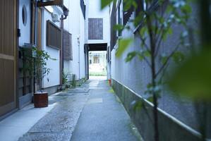 京都らしい路地奥の古い町屋